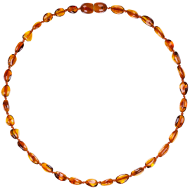 Beans Cognac Teething Necklace
