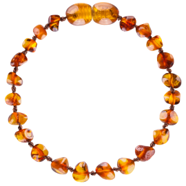 Baroque Cognac Baby Teething Bracelet