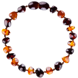 Baroque Multi 2 colors Cognac/Cherry Teething Bracelet
