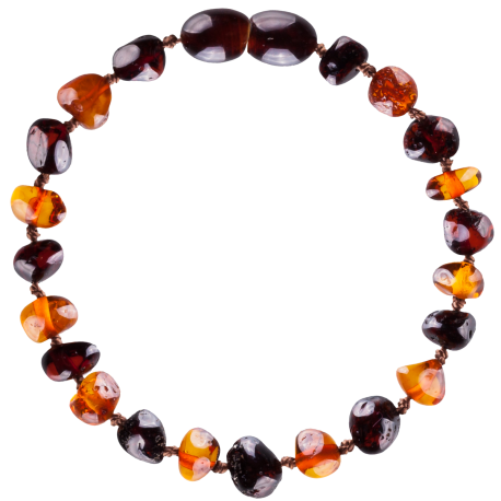 Baroque Cognac/Cherry Teething Bracelet
