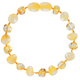 Baroque Multi 2 colors Milk/Lemon Teething Bracelet