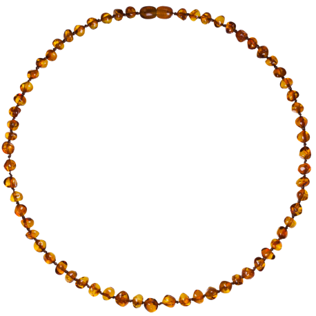 Baroque Cognac Adult Necklace