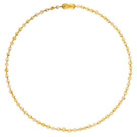 Round Luxury Adult Necklace - 3 Lemon/1 Milk
