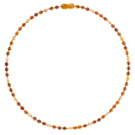 Round Luxury Adult Necklace - 3 Cognac/1 Lemon
