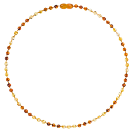 Round Luxury Adult Necklace - 3 Lemon/3 Cognac