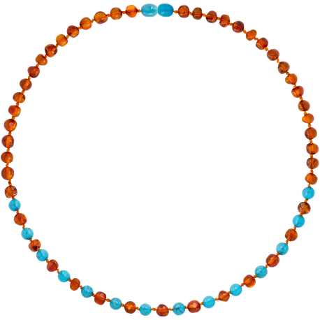 Baroque Turquoise Adult Necklace