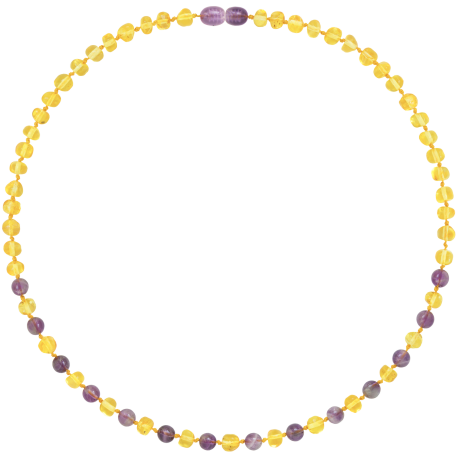 Baroque Amethyst Adult Necklace