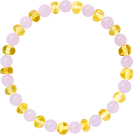 Baroque Rose Quartz Adult Bracelet