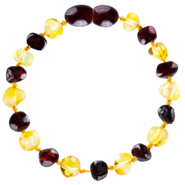 Baroque Multi 2 color Lemon/Cherry Teething Bracelet