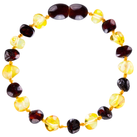 Baroque Multi 2 colors Lemon/Cherry Teething Bracelet