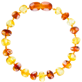 Baroque Multi 2 colors Lemon/Cognac Teething Bracelet