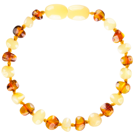 Baroque Multi 2 colors Milk/Cognac Teething Bracelet