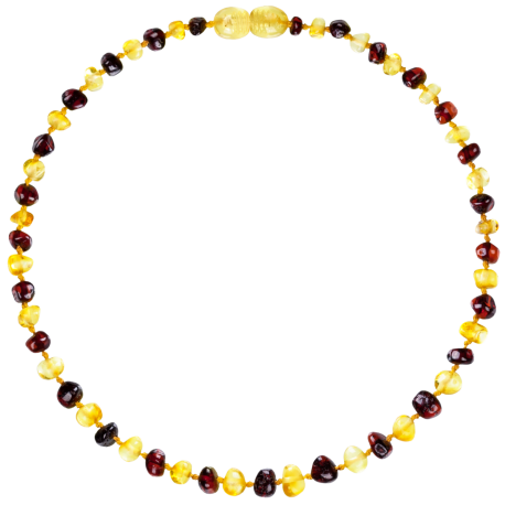 Baroque Multi 2 colors Lemon/Cherry Teething Necklace