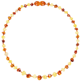 Baroque Multi 2 colors Milk/Cognac Teething Necklace