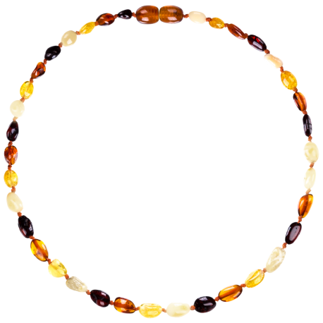 Beans Multi 4 colors Teething Necklace
