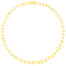 Baroque Unpolished Milk Teething Necklace