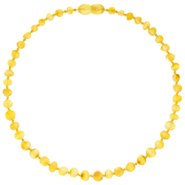 Baroque Unpolished Lemon Teething Necklace