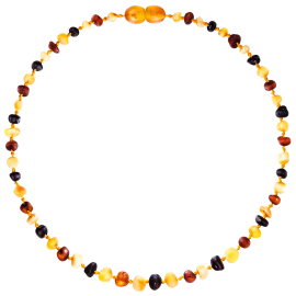 Baroque Unpolished Multi 4 colors Teething Necklace