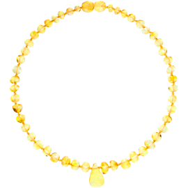 Baroque Lemon Teething Necklace with Pendant