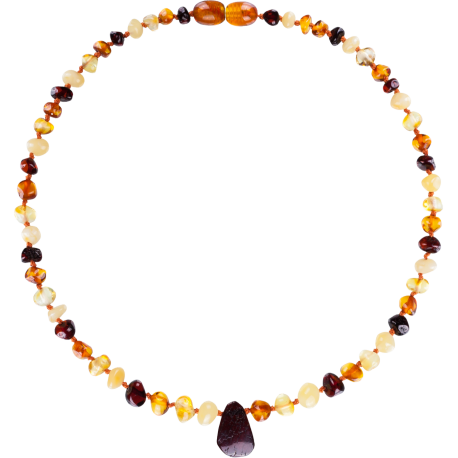 Baroque Multi 4 colors Teething Necklace with Pendant