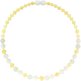 Baroque Milk/Crystal/White Shell Teething Necklace