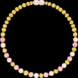 Baroque Lemon/Rose Quartz/Pink Jade Teething Necklace