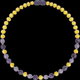 Baroque Lemon/Amethyst/Jade Teething Necklace