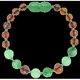 Baroque Cognac/Green Jade Teething Bracelet