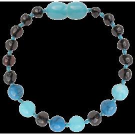 Baroque Cherry/Turquoise/Jade Teething Bracelet