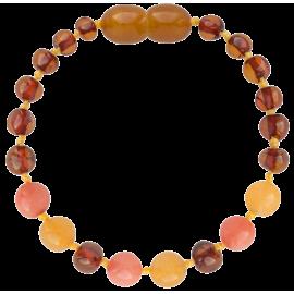 Baroque Cognac/Aventurine/Coral Teething Bracelet
