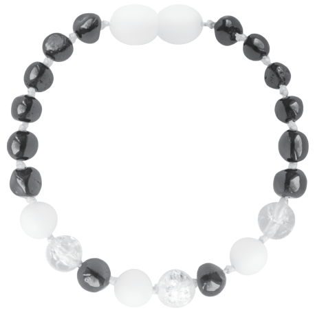 Baroque Cherry/Crystal/White Shell Teething Bracelet