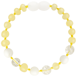 Baroque Milk/Crystal/White Shell Teething Bracelet