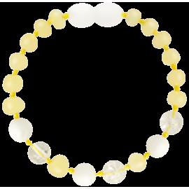 Baroque Milk/Crystal/White Shell Teething Bracelet