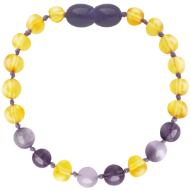 Baroque Lemon/Amethyst/Jade Teething Bracelet