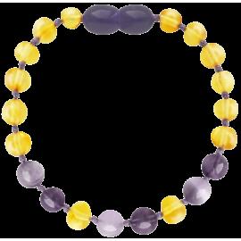 Baroque Lemon/Amethyst/Jade Teething Bracelet