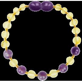 Baroque Lemon/Amethyst Teething Bracelet