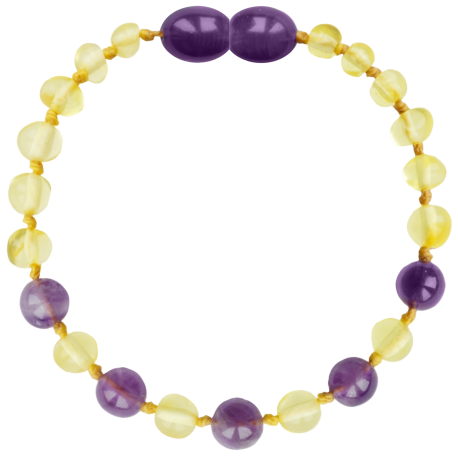 Baroque Lemon/Amethyst Teething Bracelet