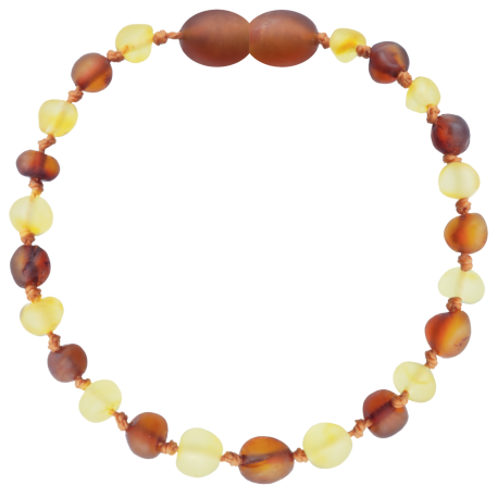 Baroque Unpolished Lemon/CognacTeething Bracelet