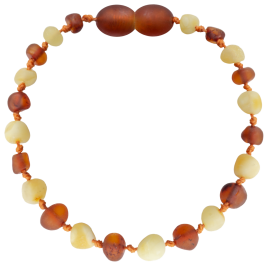 Baroque Unpolished Milk/CognacTeething Bracelet