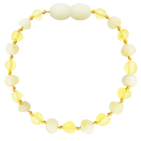 Baroque Unpolished Lemon/Milk Teething Bracelet