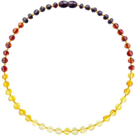 Baroque Reverse Rainbow Teething Necklace