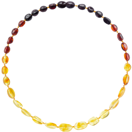 Beans Reverse Rainbow Teething Necklace