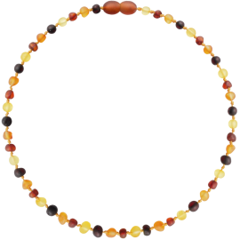 Baroque Unpolished Multi 3 colors Teething Necklace