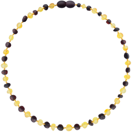 Baroque Unpolished Lemon/Cherry Teething Necklace