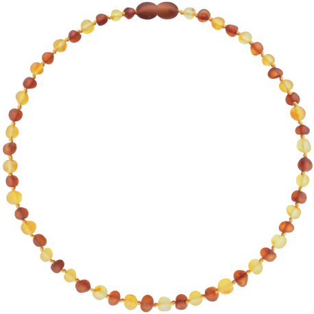 Baroque Unpolished Lemon/Cognac Teething Necklace