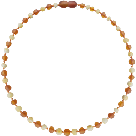 Baroque Unpolished Milk/Cognac Teething Necklace