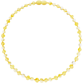 Baroque Unpolished Lemon/Milk Teething Necklace