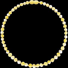 Baroque Unpolished Lemon/Milk Teething Necklace