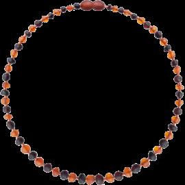 Baroque Unpolished Cognac/Cherry Teething Necklace