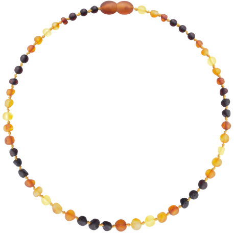 Baroque Unpolished True Rainbow Teething Necklace